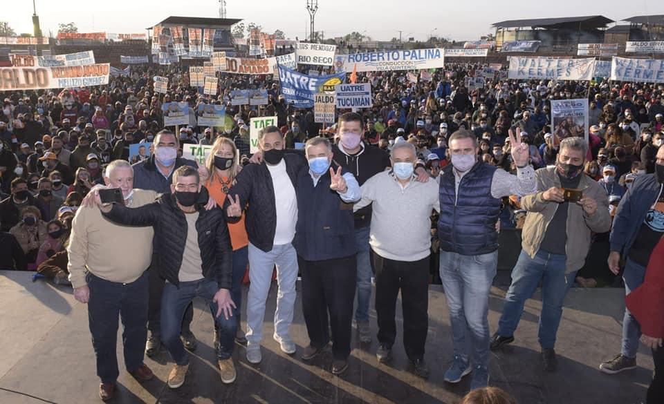 Más de 10.000 personas acompañaron al jaldismo en su acto en Monteros